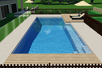Hamilton pool installation in ground pools and landscaping for Pool design 3d software
